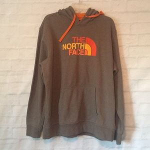 North Face men's tan orange sweatshirt hoodie XL